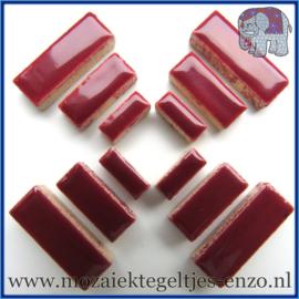 Keramische mozaiek steentjes - Keramiek Rectangles Rechthoekjes Normaal - 4, 6 en 10 mm - Enkele Kleuren - per 50 gram - Merlot