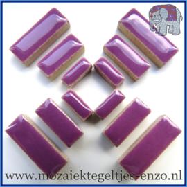 Keramische mozaiek steentjes - Keramiek Rectangles Rechthoekjes Normaal - 4, 6 en 10 mm - Enkele Kleuren - per 50 gram - Pretty Purple
