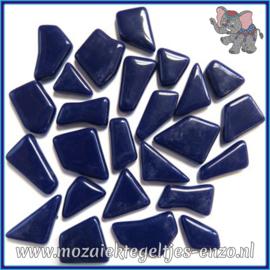 Glasmozaiek steentjes Snippets Puzzel Stukjes Normaal - Enkele Kleuren - per 50 gram - Royal Navy