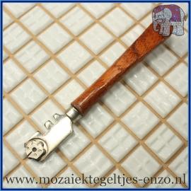 Glassnijder met houten handvat - Skandia - Mozaiek gereedschap voor plaatglas en spiegels