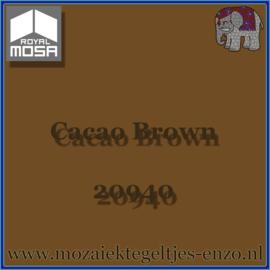 Binnen wandtegel Royal Mosa - Glanzend - 15 x 15 cm - per 1 stuk - Cacao Brown 20940