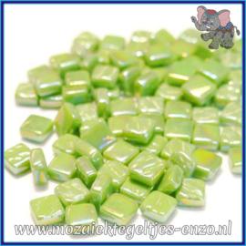 Glasmozaiek Pixel steentjes - Ottoman Parelmoer - 0,8 x 0,8 cm - Enkele Kleuren - per 50 gram - New Green