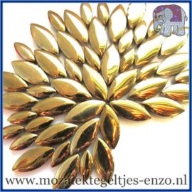 Keramische mozaiek steentjes - Petals Bloemblaadjes Normaal - 14 en 21 mm - Enkele Kleuren - per 50 gram - Gold