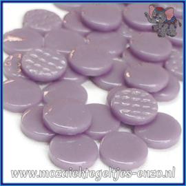 Glasmozaiek steentjes - Penny Rounds Normaal - 18 mm - Enkele Kleuren - per 50 gram - Lilac