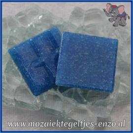 Glasmozaiek tegeltjes - Basic Line - 2 x 2 cm - Enkele Kleuren - per 20 steentjes - Dark Turquoise A16