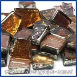 Glasmozaiek steentjes - Moonshine Measures Normaal - Gemixte Kleuren - per 50 gram - Umbriel Ochre