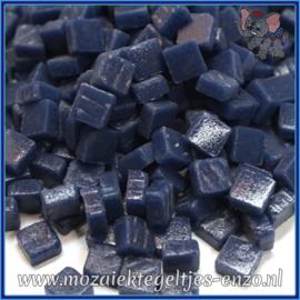 Glasmozaiek Pixel steentjes - Ottoman Matte - 0,8 x 0,8 cm - Enkele Kleuren - per 50 gram - Royal Blue