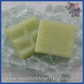Glasmozaiek tegeltjes - Basic Line - 2 x 2 cm - Enkele Kleuren - per 20 steentjes - Apple Green A60