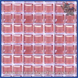 Glasmozaiek tegeltjes - Murrini Crystal - 1 x 1 cm - Enkele Kleuren - per 60 steentjes - Mini Summer Rose