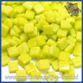 Glasmozaiek Pixel steentjes - Ottoman Matte - 0,8 x 0,8 cm - Enkele Kleuren - per 50 gram - Yellow Green