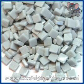 Glasmozaiek Pixel steentjes - Ottoman Matte - 0,8 x 0,8 cm - Enkele Kleuren - per 50 gram - Pale Grey