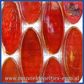 Glasmozaiek steentjes - Radiant Ellipse Parelmoer - 20 x 45 mm - Enkele Kleuren - per 1 stuk - Bombay