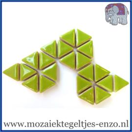 Keramische mozaiek steentjes - Triangles Driehoekjes Normaal - 15 mm - Enkele Kleuren - per 50 gram - Kiwi