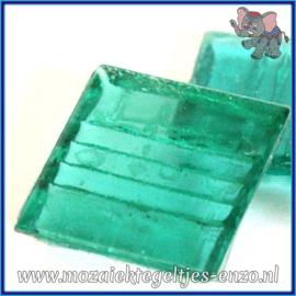 Glasmozaiek tegeltjes - Doorzichtig - 2 x 2 cm - Enkele Kleuren - per 20 steentjes - Teal