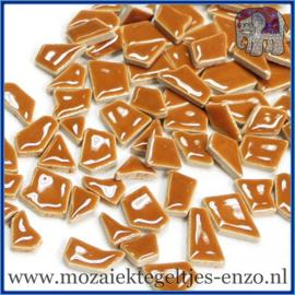 Keramische mozaiek steentjes - Keramiek Puzzel Stukjes Normaal - Enkele Kleuren - per 50 gram - Warm Sand