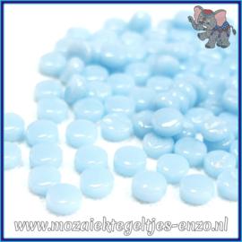 Glasmozaiek Pixel steentjes - Darling Dotz Normaal - 0,8 cm - Enkele Kleuren - per 50 gram - Pale Aqua