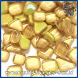 Glasmozaiek steentjes - Soft Glass Puzzles Normaal - Enkele Kleuren - per 50 gram - Gold