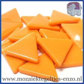 Glasmozaiek steentjes - Art Angles Gewoon - 29 mm - Enkele Kleuren - per 1 kilo - Orange Opal