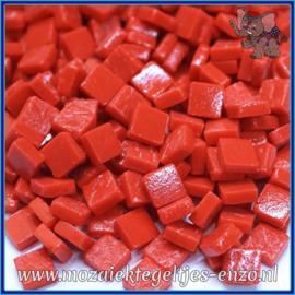 Glasmozaiek Pixel steentjes - Ottoman Matte - 0,8 x 0,8 cm - Enkele Kleuren - per 50 gram - Bright Red