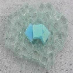 "- Nebula 1 x 1 cm - Mini Turquoise-""S"""