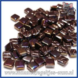 Glasmozaiek Pixel steentjes - Ottoman Parelmoer - 0,8 x 0,8 cm - Enkele Kleuren - per 50 gram - Merbau