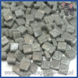 Glasmozaiek Pixel steentjes - Ottoman Matte - 0,8 x 0,8 cm - Enkele Kleuren - per 50 gram - Midtone Grey