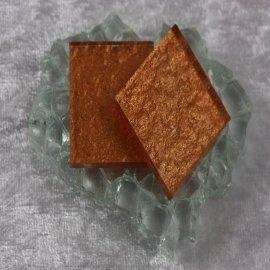 """Glasmozaïek Pearl Sparkle 2,5 x 2,5 cm - Bronze -""""S"""""""