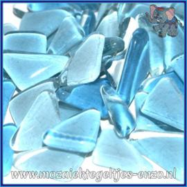 Glasmozaiek steentjes - Soft Glass Puzzles Normaal - Gemixte Kleuren - per 50 gram - Water Hyacinth
