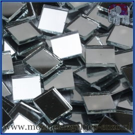 Spiegel mozaiek steentjes - per 50 gram - 1 x 1 cm