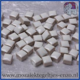 Geglazuurde Keramiek Stenen - 1 x 1 cm - Enkele Kleuren - per 60 steentjes - White