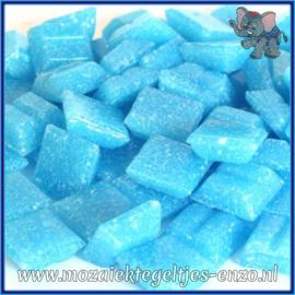 Glasmozaiek tegeltjes - Basic Line - 1 x 1 cm - Enkele Kleuren - per 60 steentjes - Mini Turquoise A14