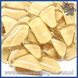 Glasmozaiek steentjes - Soft Glass Puzzles Normaal - Enkele Kleuren - per 50 gram - Flesh Pot