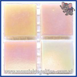 Glasmozaiek tegeltjes - Parelmoer - 2 x 2 cm - Enkele Kleuren - per 20 steentjes - Pink Pearl