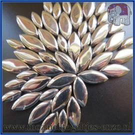 Keramische mozaiek steentjes - Petals Bloemblaadjes Normaal - 14 en 21 mm - Enkele Kleuren - per 50 gram - Silver