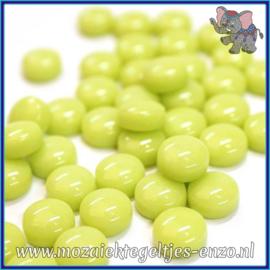Glasmozaiek steentjes - Optic Drops Normaal - 12 mm - Enkele Kleuren - per 50 gram - Yellow Green