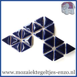 Keramische mozaiek steentjes - Triangles Driehoekjes Normaal - 15 mm - Enkele Kleuren - per 50 gram - Indigo