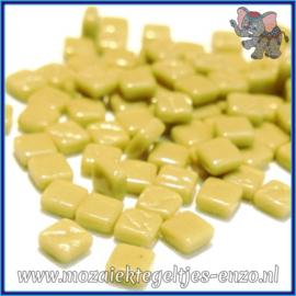 Glasmozaiek Pixel steentjes - Ottoman Normaal - 0,8 x 0,8 cm - Enkele Kleuren - per 50 gram - Light Olive