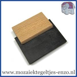 Voegrubber - 70 mm - Hout Handvat - Mozaiek Gereedschap