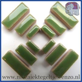 Keramische mozaiek steentjes - Keramiek Rectangles Rechthoekjes Normaal - 4, 6 en 10 mm - Enkele Kleuren - per 50 gram - Jade