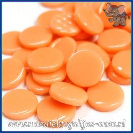 Glasmozaiek steentjes - Penny Rounds Normaal - 18 mm - Enkele Kleuren - per 50 gram - Apricot