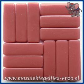 Glasmozaiek steentjes - Stix Rechthoekjes Staafjes XL Normaal - 12 x 38 mm - Enkele Kleuren - per 50 gram - Dark Rose