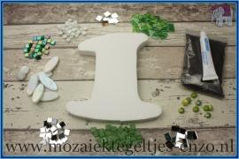 Mozaiek Kant & Klaar Pakket Piepschuim Huisnummer Groot - Cijfer 1 Groen