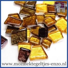 Glasmozaiek steentjes - Moonbeam Normaal - Gemixte Kleuren - per 50 gram - El Dorado