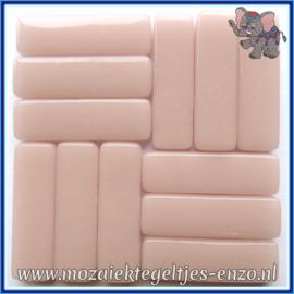 Glasmozaiek steentjes - Stix Rechthoekjes Staafjes XL Normaal - 12 x 38 mm - Enkele Kleuren - per 50 gram - Pale Pink
