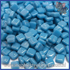 Glasmozaiek Pixel steentjes - Ottoman Normaal - 0,8 x 0,8 cm - Enkele Kleuren - per 50 gram - Lake Blue