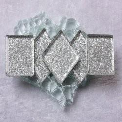 "- Glitter 2 x 2 cm - Quick-Silvers-""S"""