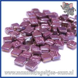 Glasmozaiek Pixel steentjes - Ottoman Parelmoer - 0,8 x 0,8 cm - Enkele Kleuren - per 50 gram - Deep Purple