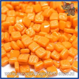 Glasmozaiek Pixel steentjes - Ottoman Normaal - 0,8 x 0,8 cm - Enkele Kleuren - per 50 gram - Orange Opal