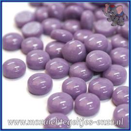 Glasmozaiek steentjes - Optic Drops Normaal - 12 mm - Enkele Kleuren - per 50 gram - Lilac