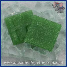 Glasmozaiek tegeltjes - Basic Line - 2 x 2 cm - Enkele Kleuren - per 20 steentjes - Leaf Green A23